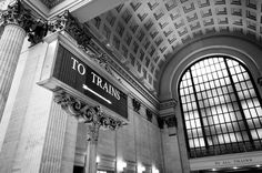 Chicago Union Station Train Sign Art Print by Chicago In Photographs. All prints are professionally printed, packaged, and shipped within 3 - 4 business days. Choose from multiple sizes and hundreds of frame and mat options. Old Town Chicago, South Side Chicago, Union Station Chicago, Old Train Station, Train Stations, Grant Park, Thing 1, Sight & Sound