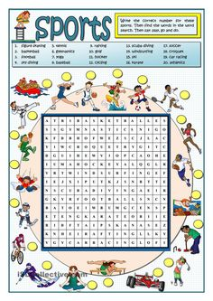 SPORTS WORDSEARCH More