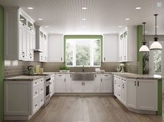 34d0bd1ea I m Dreaming of a White Kitchen To top off last week s white shaker cabinet  showcase here s more about the hottest kitchen design trend of There s so  many ...