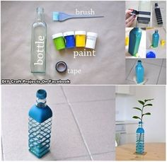 DIY vase from a bottle
