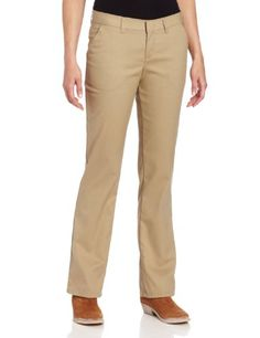 Dickies Women's FP221 Women's Premium Flat Front Pant, Relaxed, Straight Leg 8 TL- #fashion #Apparel find more at lowpricebooks.co - #fashion