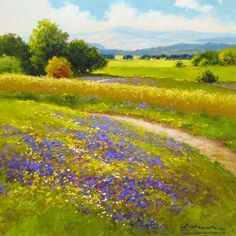 """Wheatfield and Lavender"" by Gerhard Nesvadba"