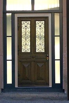 The Wilhelminian front door makes due to the large glass cutouts, despite their strong construction also a relatively slight impression. Mirror Room Divider, Room Divider Shelves, Home Hardware, Home Logo, House Numbers, Restaurant, Home Accents, Home Accessories, New Homes