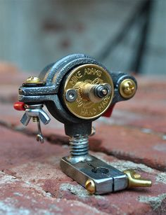 Hand-made tattoo machine by Mike Adams - artwork with utility