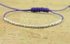 Bracelet perles en argent sterling. Petits cerceaux