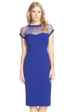 Maggy London Illusion Yoke Crepe Sheath Dress (Regular & Petite) available at #Nordstrom