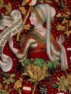Hans Part. Gertraut, Gattin des Landgrafen Heinrich von Raspe (Stammbaum der Babenberger).  c. 1489/1492. Stiftsgalerie. Klosterneuburg, Austria. REALonline. 17 Jul 2011. < http://tethys.imareal.oeaw.ac.at/realonline//>.
