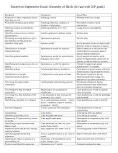 Receptive Expressive Checklist