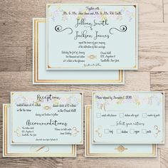 •The Anna Collection•    Wedding Invite  Reception/Accommodation Card  Response Card    All watermarks (logo) will be removed at your first proof.  ………………………………………………………………………………………………………………...............................    •This listing is for a 5x7 Printable DIY Wedding Package Invitation. Fits