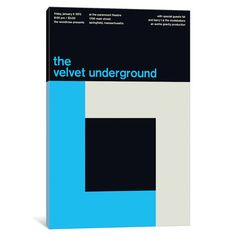 "Mercury Row The Velvet Underground at The Paramount Theatre Textual Art on Wrapped Canvas Size: 40"" H x 26"" W x 1.5"" D"