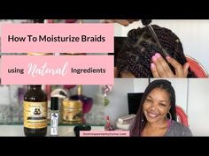 How to Moisturize Natural Hair in Braids? My method? Purified Water and Aloe Vera Juice. Why Purified Water? Tap water isn't what it used to b - How to Moisturize Braids - Dominique's Vanity Corner Natural Hair Shampoo, Natural Hair Moisturizer, Natural Haircare, Hair Remedies For Growth, Hair Growth, Natural Hair Care Tips, Natural Hair Styles, Pretty Hairstyles, Braided Hairstyles