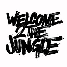 Logotipo WELCOME 2 THE JUNGLE per King Kong Posse 2010 by DEEP MASITO Rock da House. Pennello e inchiostro su carta, vettorializzato.