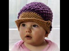 Czapka wiosenna z daszkiem/ Spring Hat Cap crochet