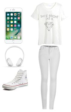 White dayz 😎😎 by taylorevans457 on Polyvore featuring polyvore, fashion, style, WithChic, 2LUV, Converse, Beats by Dr. Dre and clothing