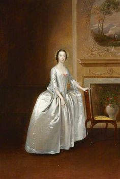 Arthur Devis, portrait of a lady, possibly Elizabeth Lacey, Mrs Joshua Iremonger III, at Uppark.