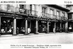 Almacenes Olmedo, na rúa do Príncipe. Anos 30