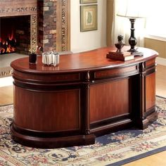 You're the boss. Let people know it with our quality Oval Office Desk that commands attention in the best way. --- Furniture Of America Oval Office Desk Executive Office, Office Table, Home Office Furniture, Ceiling Design, Entryway Tables, Cabinet, Interior Design, Oval Office, America