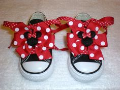 Minnie Mouse Bows and Laces for Shoes by kdstomny6 on Etsy, $12.00