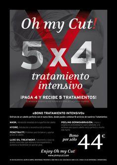 Wow! Nuevo Bono Tratamientos Intesnsivos Oh my Cut!. Cuida tu cabello con los mejores tratamientos intensivos. Toda la info en: http://www.ohmycut.com/5x4-nuevo-bono-de-tratamientos-oh-my-cut/