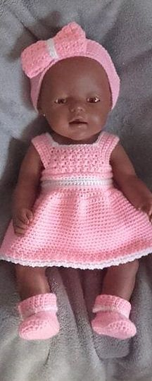 New Ideas baby born crochet doll Baby Set, Crochet Doll Clothes, Doll Clothes Patterns, Unique Baby, Unique Vintage, Baby Born Kleidung, Nicknames For Girls, Southern Baby Names, Brown Babies
