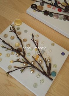 ボタンの工作 の画像 nana+iro*cafe