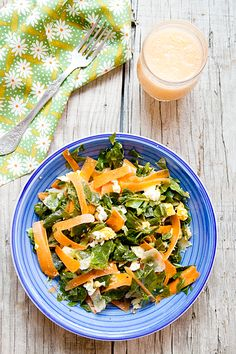 Greens and carrot warm salad