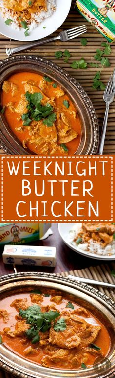 Weeknight Butter Chicken: This classic Indian recipe can easily be made in small . - Weeknight Butter Chicken: This classic Indian recipe can easily be made in small … – - Yummy Chicken Recipes, Yum Yum Chicken, Easy Dinner Recipes, Holiday Recipes, Dinner Ideas, Breakfast Recipes, Cooking Recipes, Healthy Recipes, Cooking Games