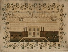 A silk on linen needlework sampler wrought by Mary Morley, dated 1832
