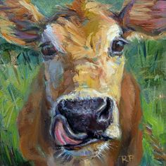 Robin Peterson. I don't know why... but I love cow paintings!
