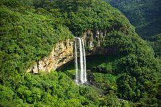 Cascata do Caracol localizada no Parque Estadual do Caracol, na cidade de Canela, Rio Grande do Sul.