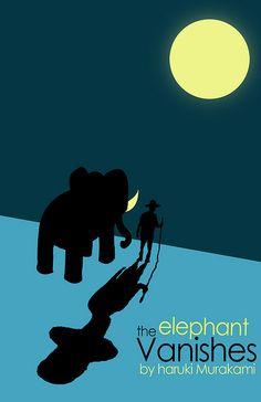 "Haruki Murakami's The Elephant Vanishes"" Book Redesign|村上春樹"
