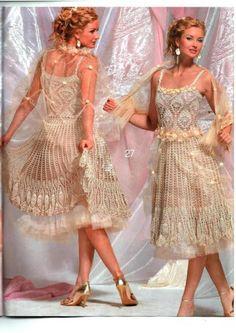 Outstanding crochet summer dress free pattern