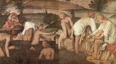 Did renaissance women remove their body hair? Did the reinvention of the female nude in renaissance Italy go hand in hand with a vogue for body hair removal? Italian Renaissance, Renaissance Art, Effie Gray, Renaissance Hairstyles, Web Gallery Of Art, John Ruskin, Going Bald, Bath Girls, Golden Hair