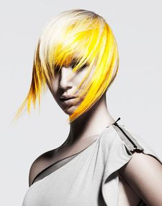 THE POOR MODEL. that yellow never comes out. but i do love it... NAHA 2012 Finalists: Haircolor