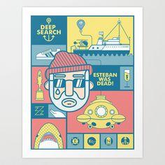 The Life Aquatic With Steve Zissou Art Print by Viet Huynh - $20.00