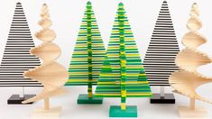 Modern Christmas Trees - Minimalist Holiday Decor