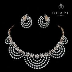 Couture is very high fashion unique jewellery. Couture is one time custom made jewellery. Charu couture diamond jewellery collection are one of them which you will never see on regular basis. Diamond Necklace Set, Initial Pendant Necklace, Diamond Jewelry, Diamond Earing, Indian Wedding Jewelry, Indian Jewelry, Bridal Jewelry, American Diamond Jewellery, Jewelry Collection