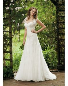 Discount Tulle Sweetheart Lace Cap Sleeve A-line Wedding Dress [wedding0751] - US $225.52 : IdoDress