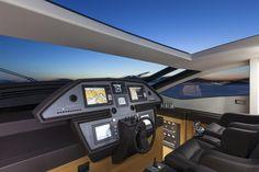 Pershing 82 cockpit