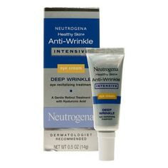 Neutrogena Healthy Skin Eye Cream, Anti-Wrinkle Intensive 0.5 z (14 g) by Neutrogena. $16.00. Dermatologist tested. Allergy tested.. The look of deep wrinkles starts to fill in; and eyes look smoother and healthier in as little as four weeks.. Replenishes skin with line-plumping moisture while visibly reducing the look of deep under-eye wrinkles and dark circles.. Non-comedogenic (won't clog pores). Dye-free. Fragrance-free.. This intensive treatment contains an effective yet...