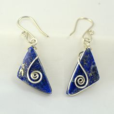 Sodalite jasper and Sterling Silver earrings  by Untwistedsister, $22.00