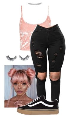 """""""pink ice cream / 11:30 pm"""" by trill-snow on Polyvore featuring Topshop"""