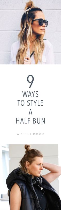 9 ways to style a half bun