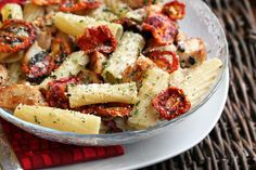 Rigatoni with grilled chicken and sun dried tomatoes...from $5 dinners-I have made this recipe before & it was super easy and so delicious!