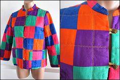Vintage 60s Patchwork Quilted Jacket / fits SM / by OGOvintage, $149.00