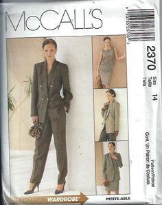 McCall's 2370 Misses PetiteAble Suit by DawnsDesignBoutique, $8.99