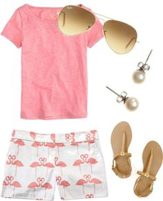 Cute pink outfit for summer