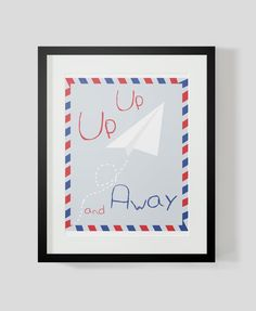 Nursery Collection Up Up and Away by theten12 on Etsy, $18.00
