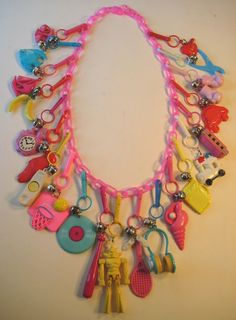 Plastic 80's Charm necklace.. My mom actually let me wear this for my 6th grade pictures!