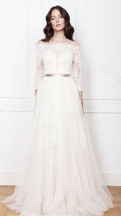 Featured Dress: Divine Atelier; Wedding dress idea.